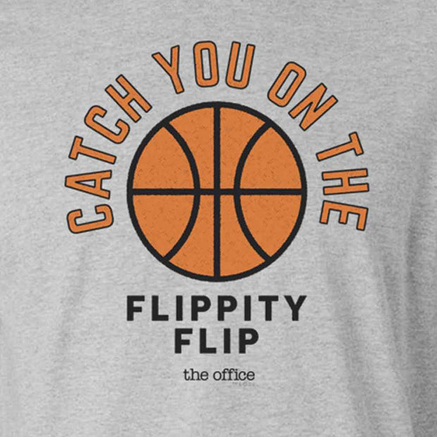 The Office Catch you on the Flippity Flip Men's Fitted Short Sleeve T-Shirt