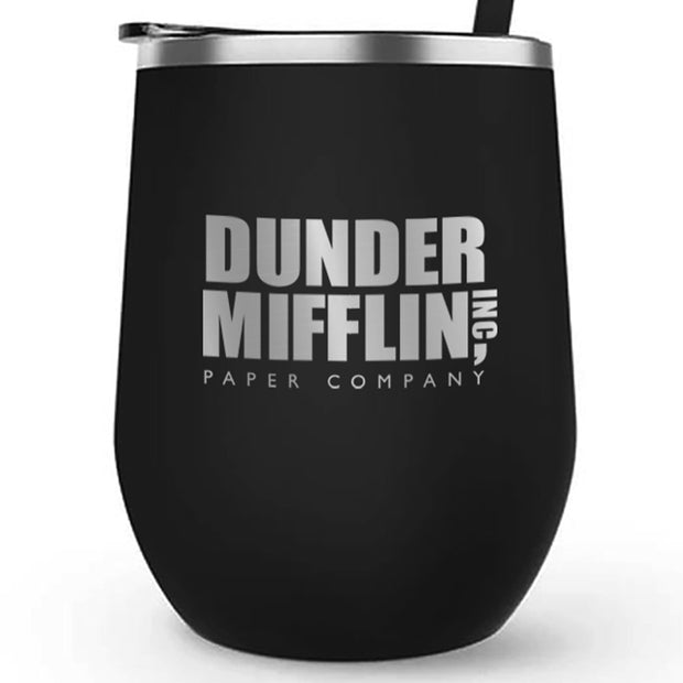 The Office Dunder Mifflin 12 oz Stainless Steel Wine Tumbler