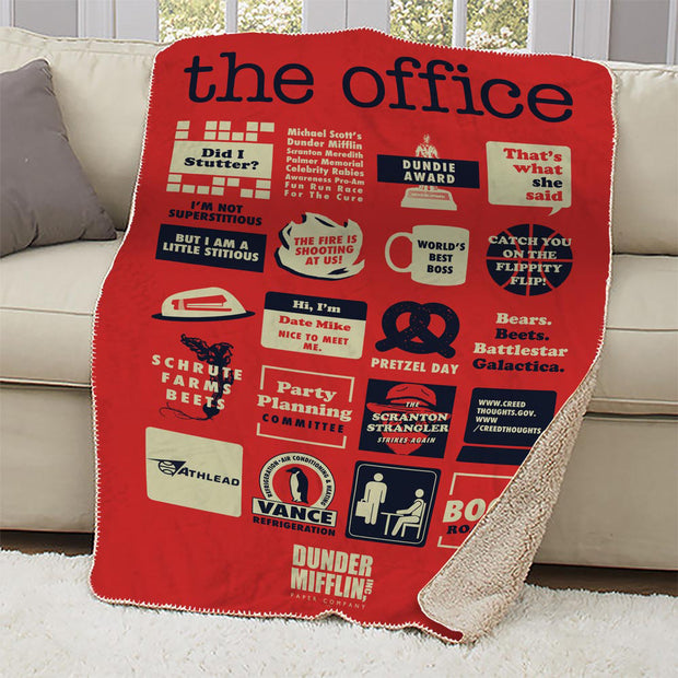 Peachy The Office Mash Up Sherpa Blanket Nbc Store Dailytribune Chair Design For Home Dailytribuneorg