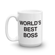 Personalized The Office World's Best Boss 15 oz Mug