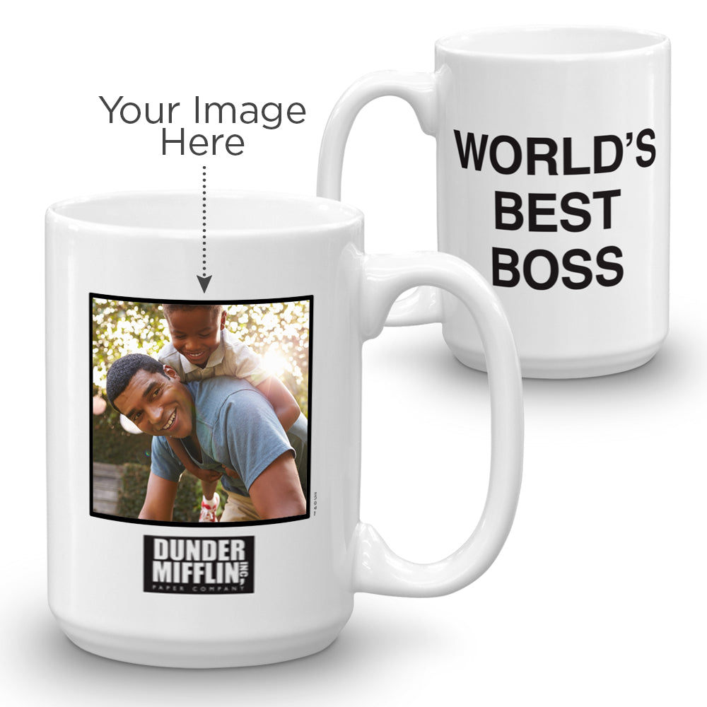 Personalized The Office World's Best Boss 15 oz Mug-secondary-image