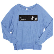 The Office Official Sign Women's Tri-blend Pullover sweatshirt