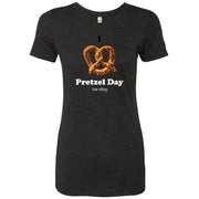 The Office Pretzel Day Women's Tri-Blend Short Sleeve T-Shirt