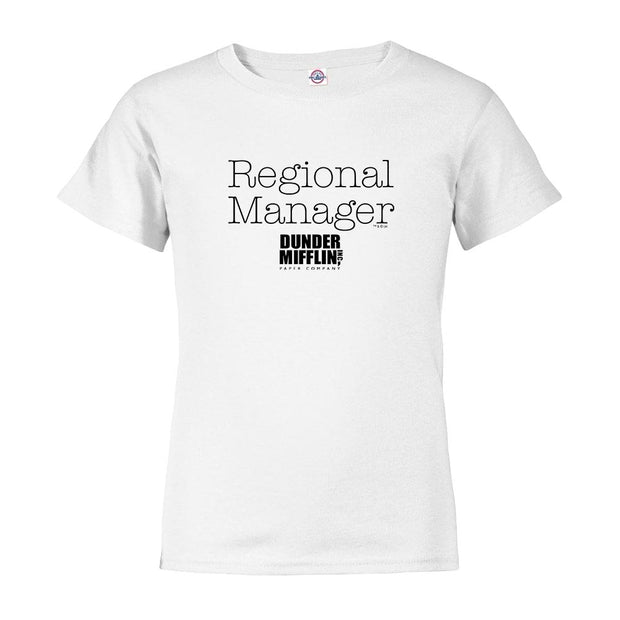 The Office Regional Mgr/Asst. Regional Mgr Kids Short Sleeve T-Shirt