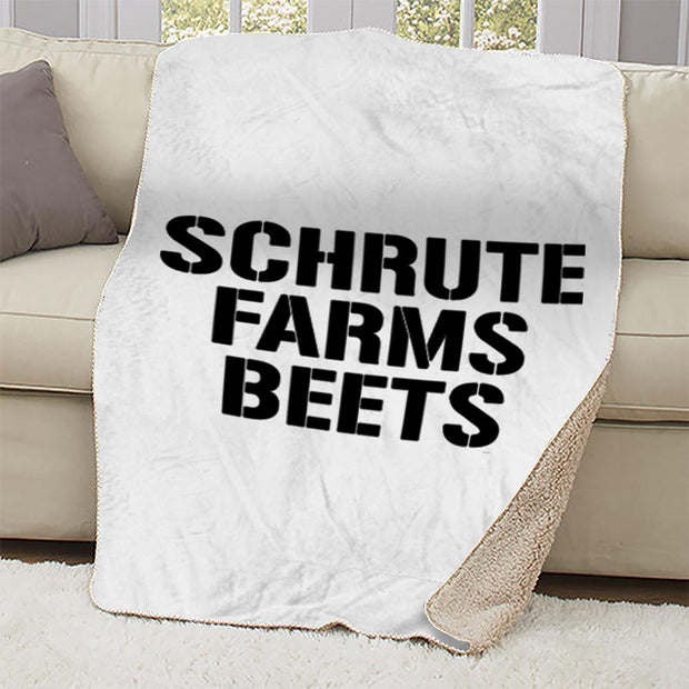 The Office Shrute Farms Beets Sherpa Blanket
