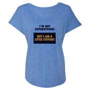 The Office Superstitious Women's Tri-Blend Dolman T-Shirt