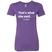 The Office That's What She Said Women's Tri-Blend T-Shirt