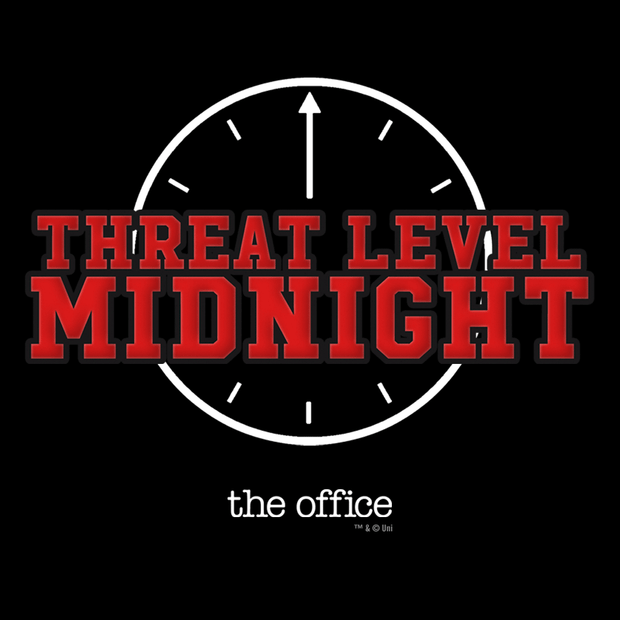 The Office Threat Level Midnight Long Sleeve T-Shirt