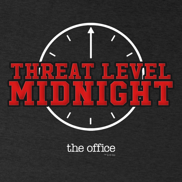 The Office Threat Level Midnight Women's Relaxed V-Neck T-Shirt