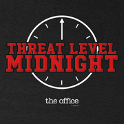 The Office Threat Level Midnight Men's Tri-Blend Short Sleeve T-Shirt