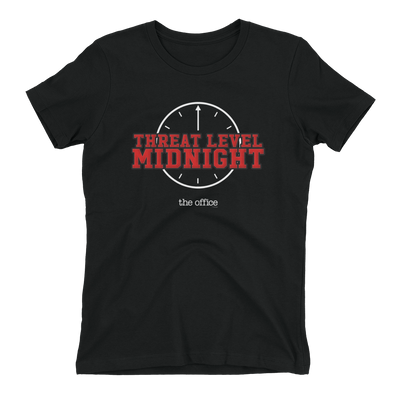 The Office Threat level Midnight Women's Short Sleeve T-Shirt