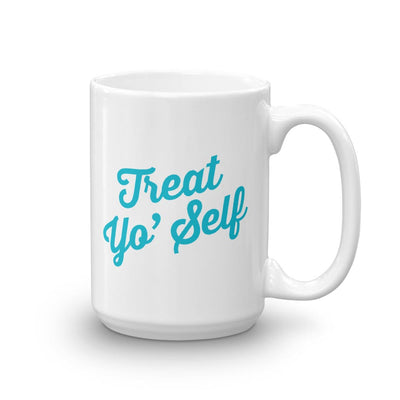 Parks and Recreation Treat Yo Self White Mug