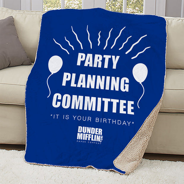 The Office Party Planning Committee Sherpa Blanket