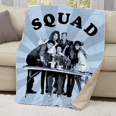 Saved By The Bell Squad Sherpa Blanket