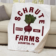 The Office Schrute Farms Sherpa Blanket