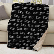 The Office That's What She Said Quote Sherpa Blanket