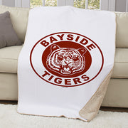 Saved By The Bell Bayside Tigers Sherpa Throw Blanket