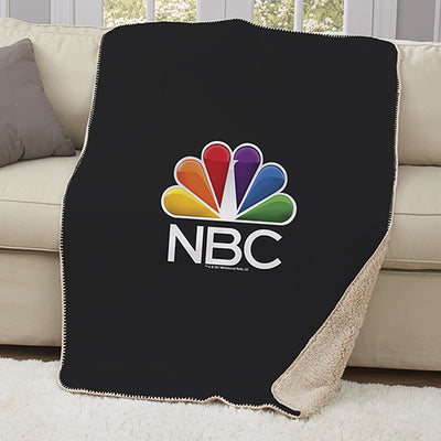 NBC Logo Sherpa Throw Blanket