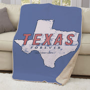Friday Night Lights Texas Forever Sub Sherpa Blanket
