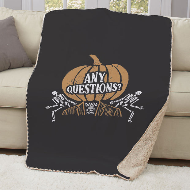 Saturday Night Live David S. Pumpkins Sherpa Throw Blanket