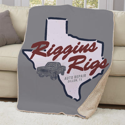 Friday Night Lights Riggins Rigs Sherpa Throw Blanket