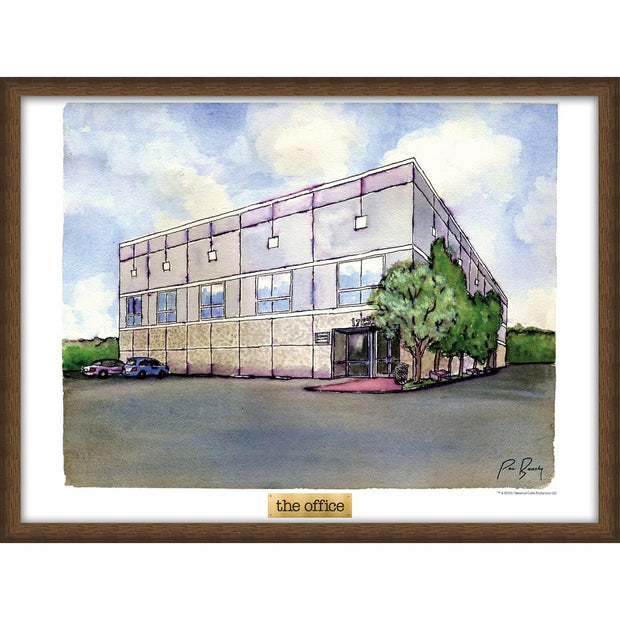The Office Pam's Watercolor Poster - 18x24