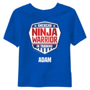 Personalized American Ninja Warrior In Training Kids T-Shirt
