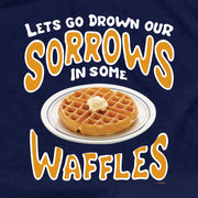 Parks and Recreation Drown Our Sorrows in Some Waffles Men's T-Shirt