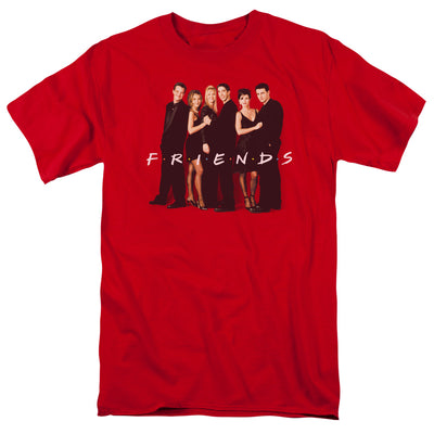 Friends Cast in Black Men's Short Sleeve T-Shirt