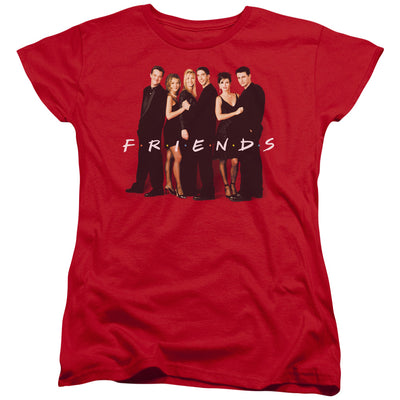 Friends Cast in Black Women's Short Sleeve T-Shirt
