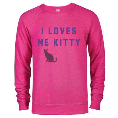 Will & Grace I Loves Me Kitty Lightweight Crew Neck Sweatshirt