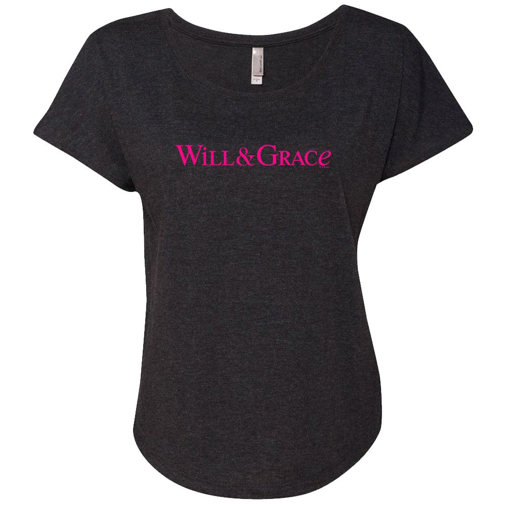 Will & Grace Logo Women's Tri-Blend Dolman T-Shirt