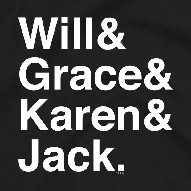 Will & Grace Names Women's Short Sleeve T-Shirt