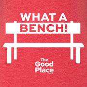 The Good Place What a Bench Women's Tri-Blend Short Sleeve T-Shirt