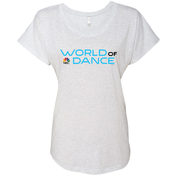 World of Dance Logo Women's Tri-Blend Dolman T-Shirt
