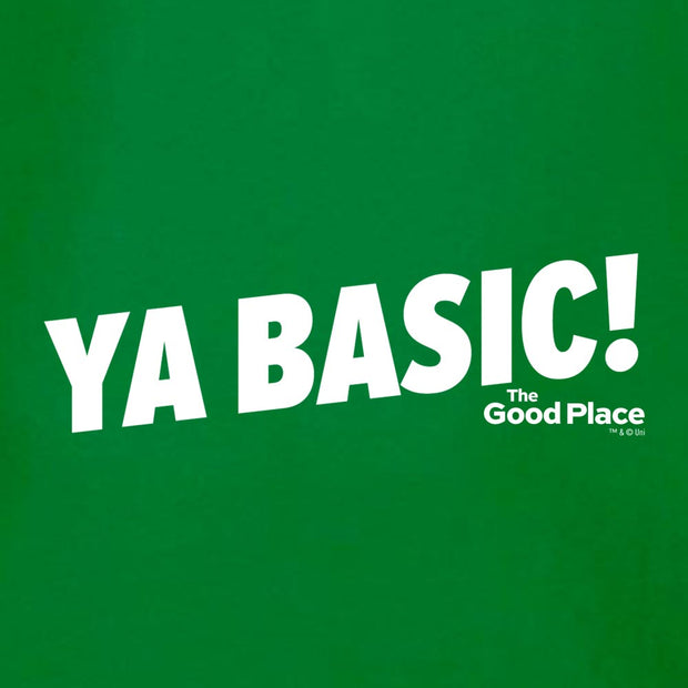 The Good Place Ya Basic! St. Patrick's Day Men's Short Sleeve T-Shirt
