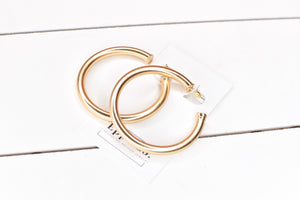 Small & Large Matte Gold Hoop