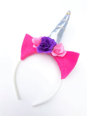 Magenta and Purple Felt Unicorn Headband
