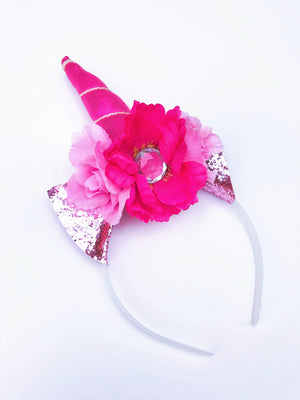 Pink Glitter Unicorn Headband