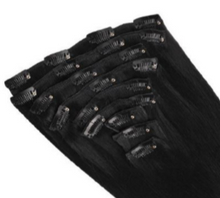 Load image into Gallery viewer, Full Set - 100% Pure Indian Human Hair Clip-in Extentions