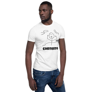 """Happy"" Short-Sleeve Unisex T-Shirt"
