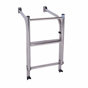 Stainless Steel 90 degree platform ladder come with extension