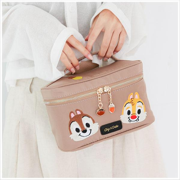 Chip N' Dale Embroidery Collection กระเป๋าใส่เครื่องสำอาง