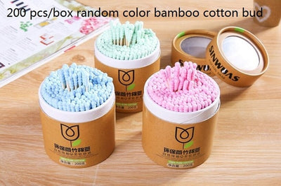 Eco Friendly Biodegradable Bamboo Cotton Swabs