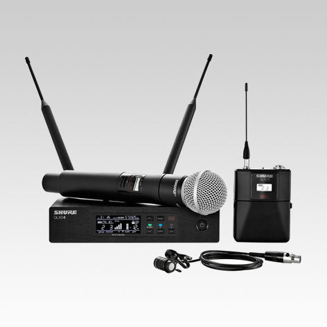 QLXD124/85 Handheld and Lavalier Combo Wireless Microphone System