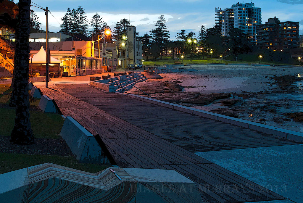 Textured image of Cronulla Beach at Dusk