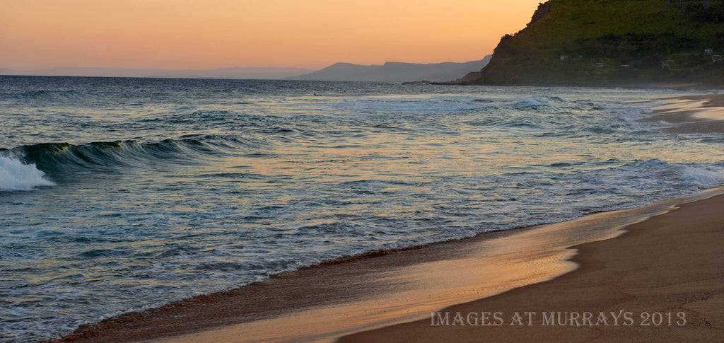A Dusk Scenic image of Garie Beach in stunning light
