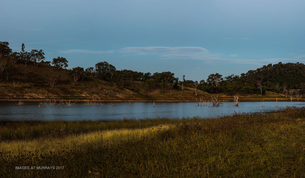 Lake Windamere - just before the Full Moon came over the Ridge ..