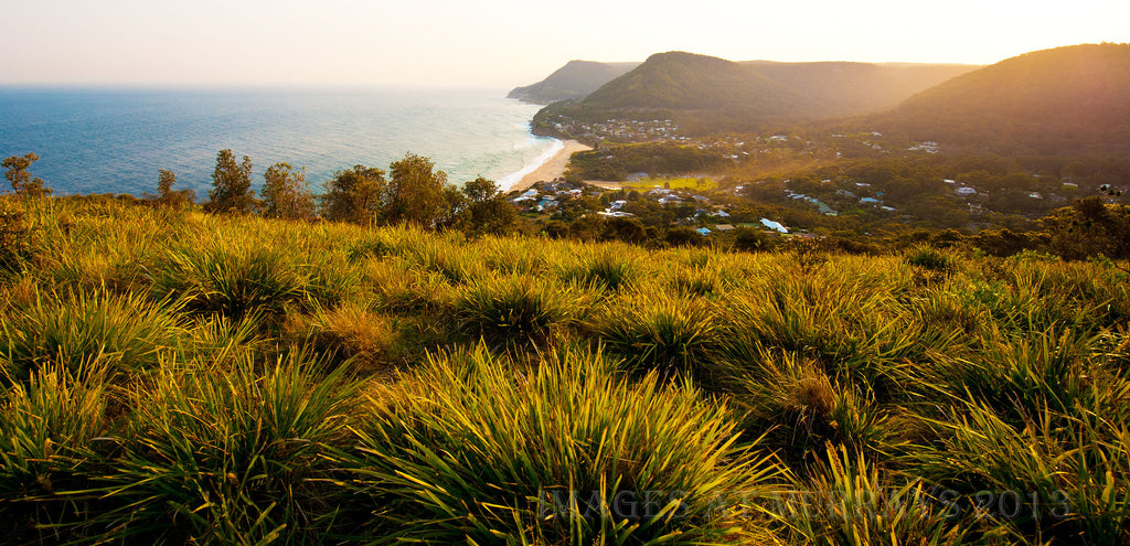 Image looking South from Bald Hill in perfect Dusk light