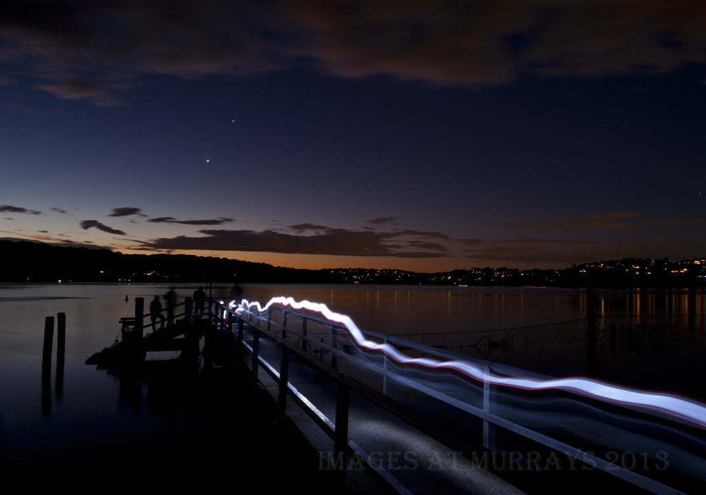 Light-painted 30 second exposure at Yowie Bay Wharf